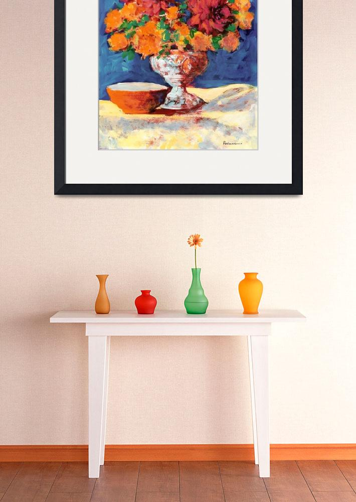 """Red and Orange Flower Arrangement&quot  (2009) by RDRiccoboni"