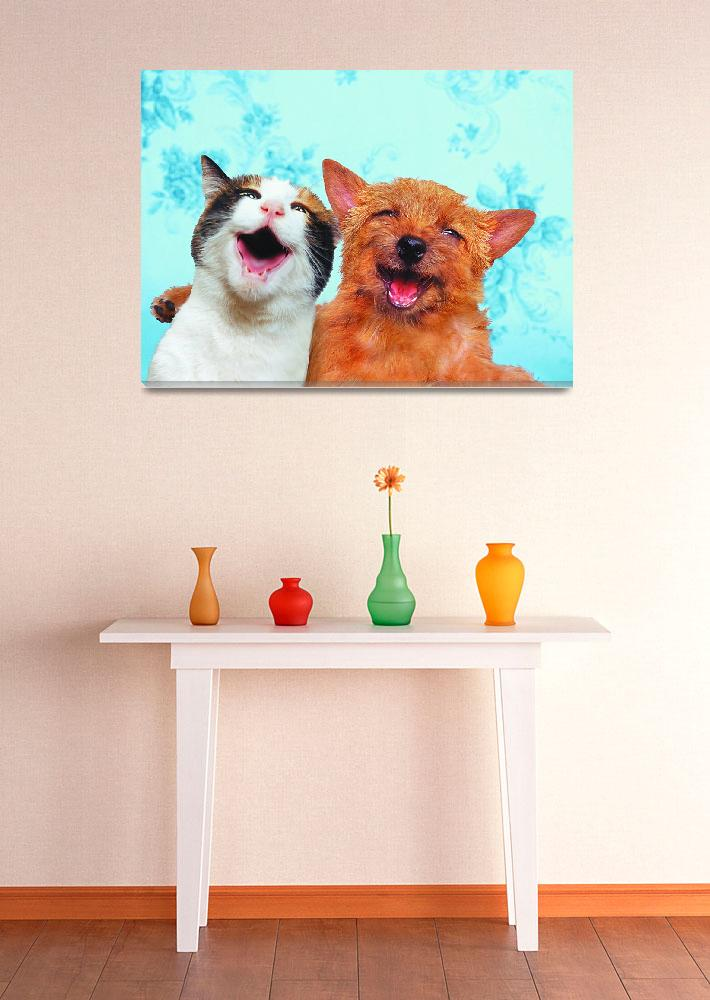 """""""Dog-Cat-Best-Friends-Forever&quot  (2002) by johnlund"""
