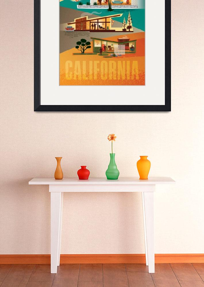 """""""Palm Springs California - Mid Century Modern House""""  (2015) by DianeDempseyDesign"""