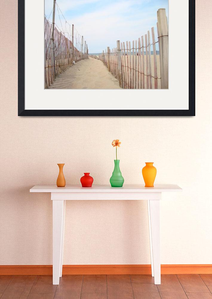 """""""The Beach Fence&quot  (2007) by StephanieB"""