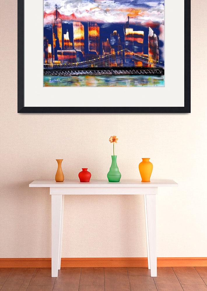 """The City - NYC Twin Towers commemorative art""  by galina"