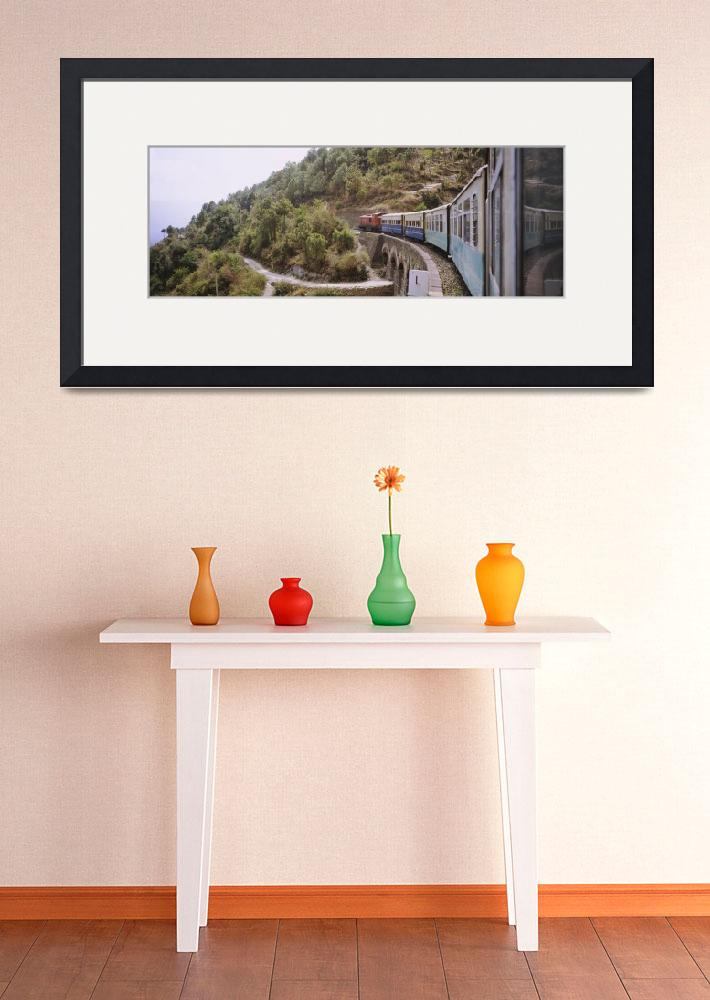 """""""Toy train passing over a bridge&quot  by Panoramic_Images"""