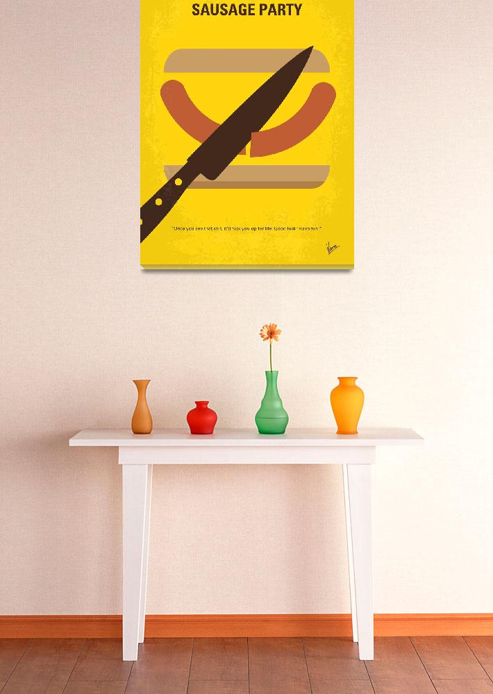 """No704 My Sausage Party minimal movie poster&quot  by Chungkong"