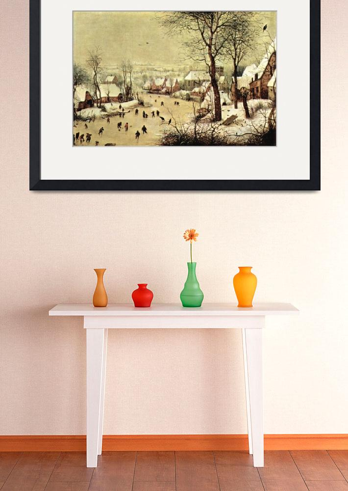 """""""Winter Landscape with Skaters by Pieter Bruegel&quot  by ArtLoversOnline"""