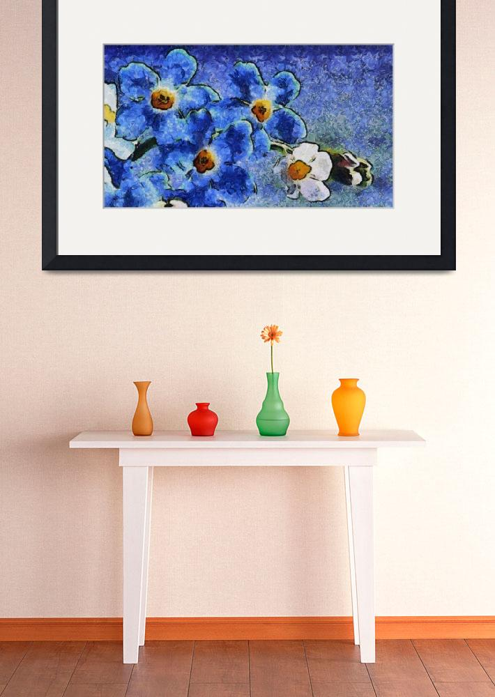 """""""Blue Flowers Van Gogh style&quot  (2013) by Art_by_Lilia"""