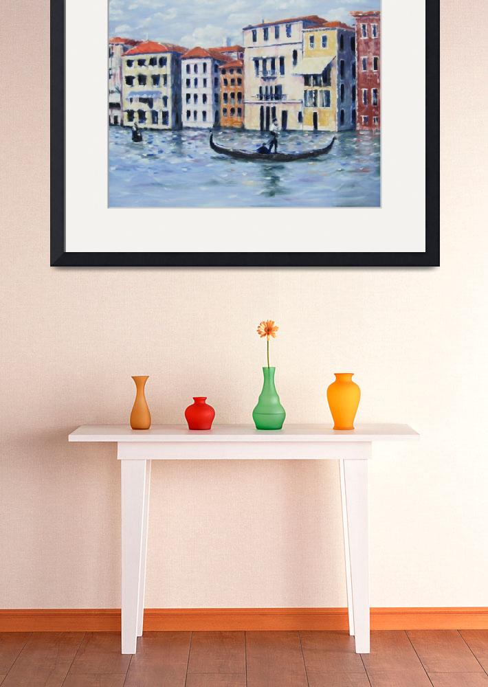 """""""venice grand canal&quot  (2009) by danielgrabow"""