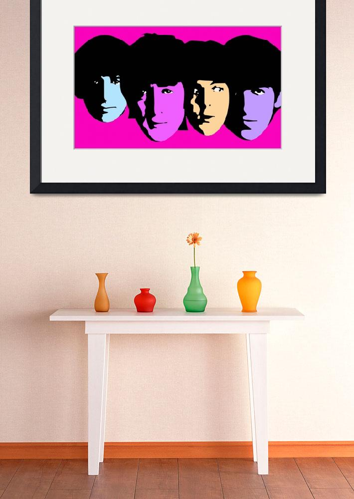 """""""Beatles&quot  (2009) by whitewallgallery"""