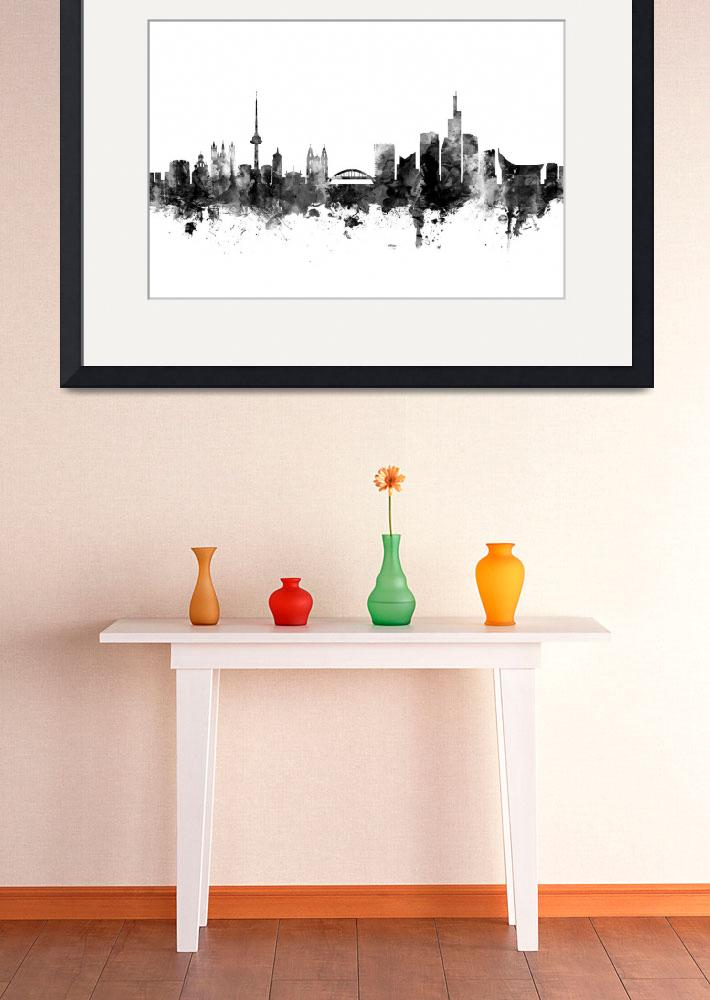 """Vilnius Lithuania Skyline&quot  (2017) by ModernArtPrints"