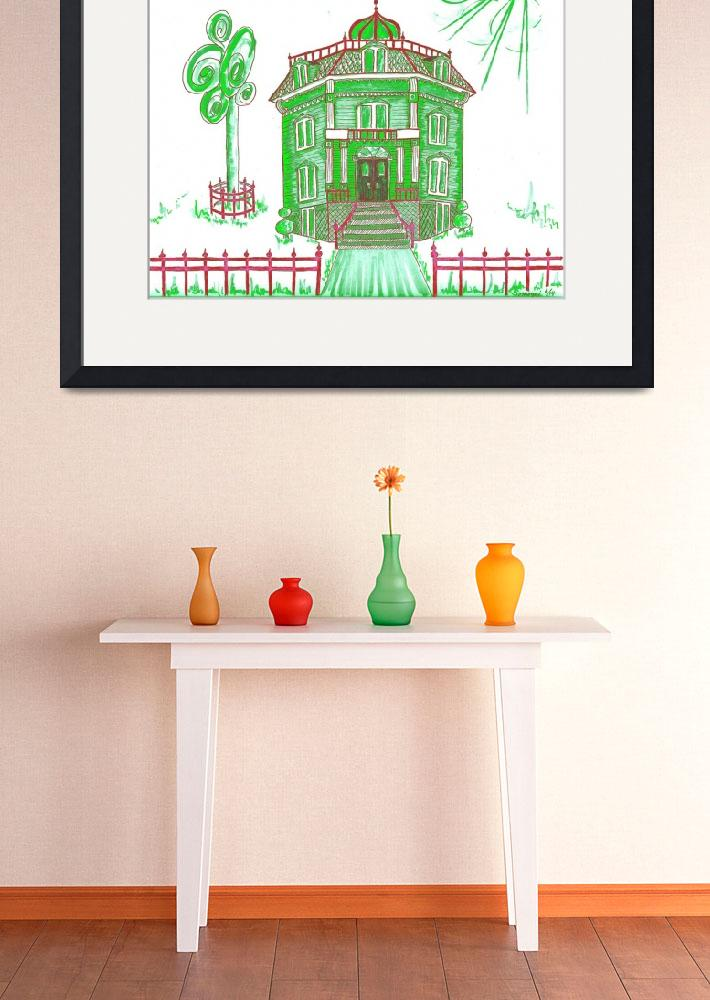 """""""Victorian House in Green""""  (2015) by JayneSomogy"""
