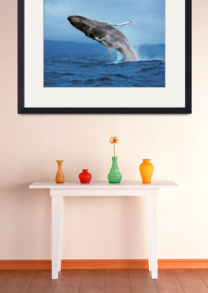 """""""Humpback Whale Leap""""  (2013) by netbrands"""