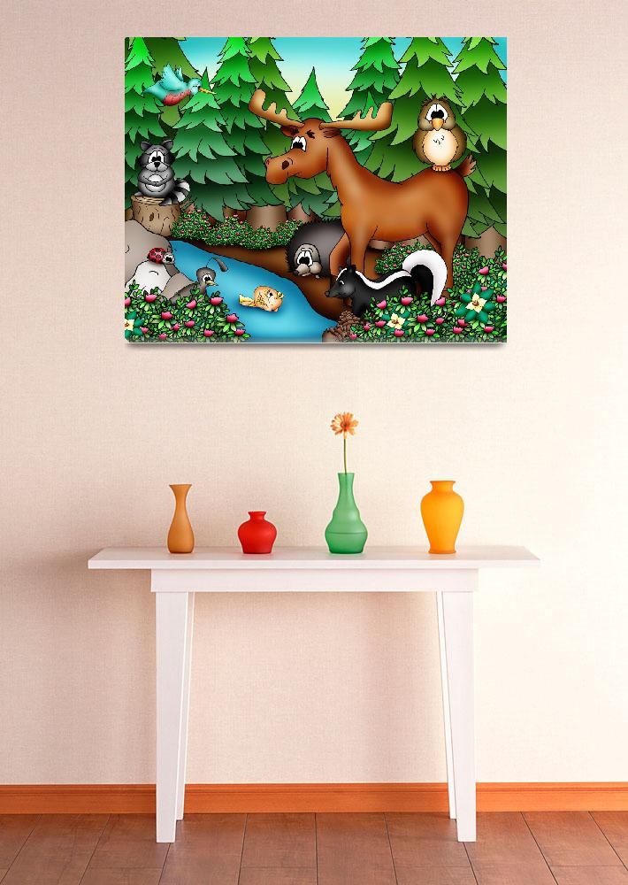 """""""Forest Animals with Moose&quot  (2010) by just4mebooks"""