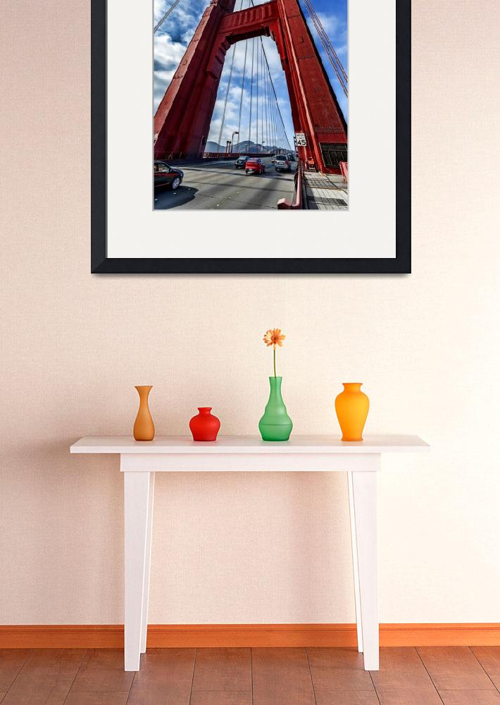 """""""Golden Gate Tower with traffic passing through.&quot  (2014) by New-Yorkled"""
