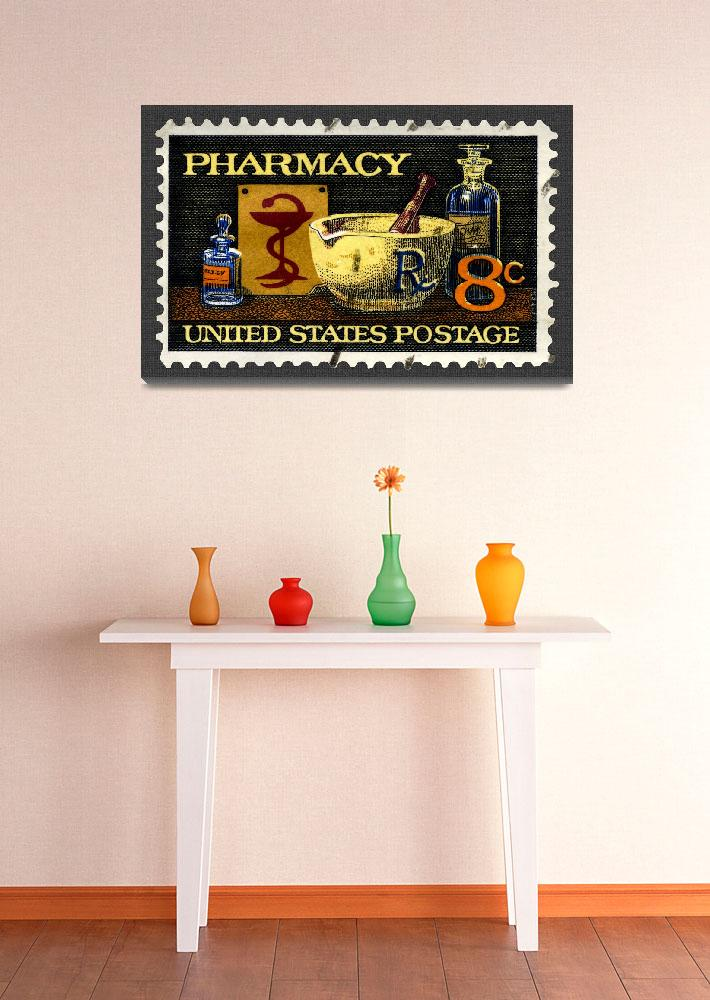 """""""Pharmacy Stamp""""  (2008) by WilshireImages"""