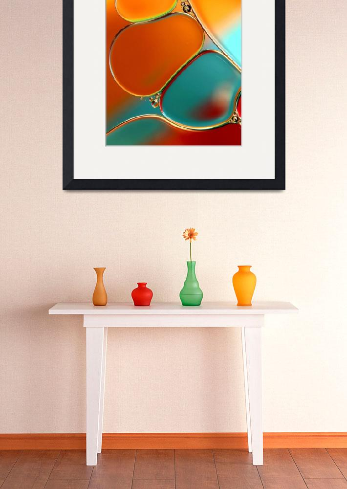 """""""Oil and Water Abstract in Orange&quot  (2011) by SJohnstone"""