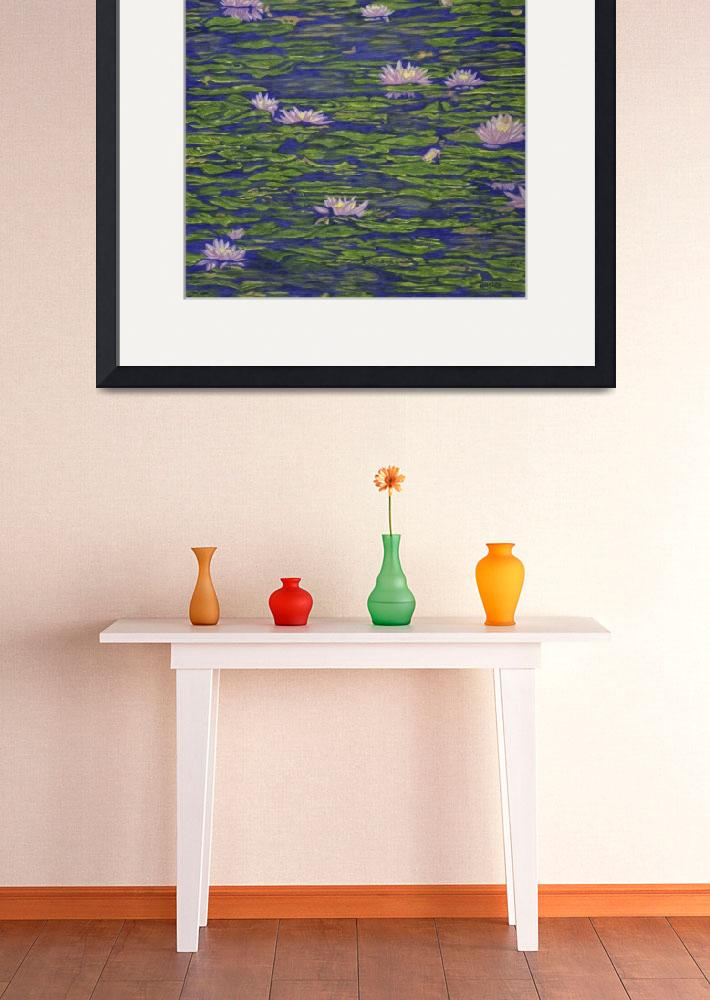 """""""Fine Art Prints Water Lilies Lily Art Pond Flowers""""  (2008) by BasleeTroutman"""