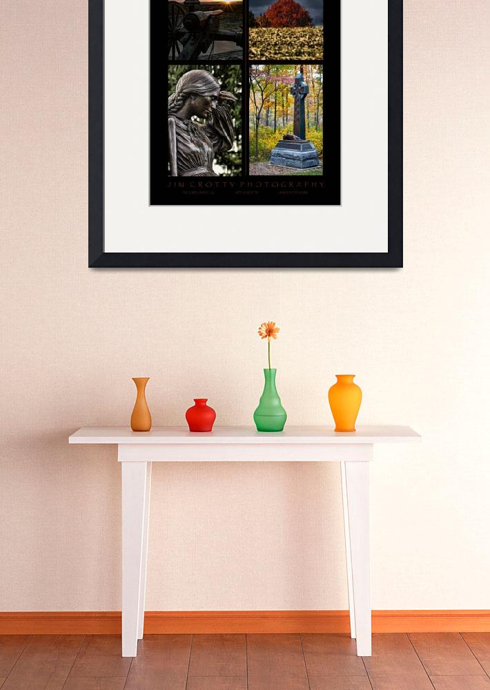 """""""Gettysburg Four Image Poster Print by Jim Crotty&quot  (2009) by jimcrotty"""