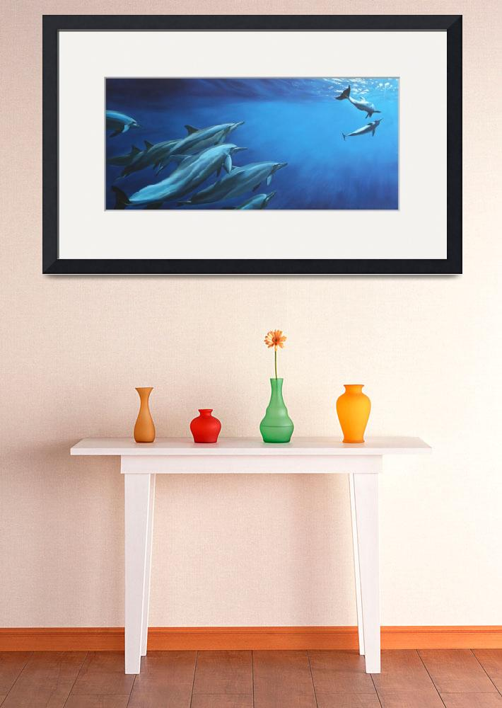 """Spinner Dolphins&quot  by daverart"