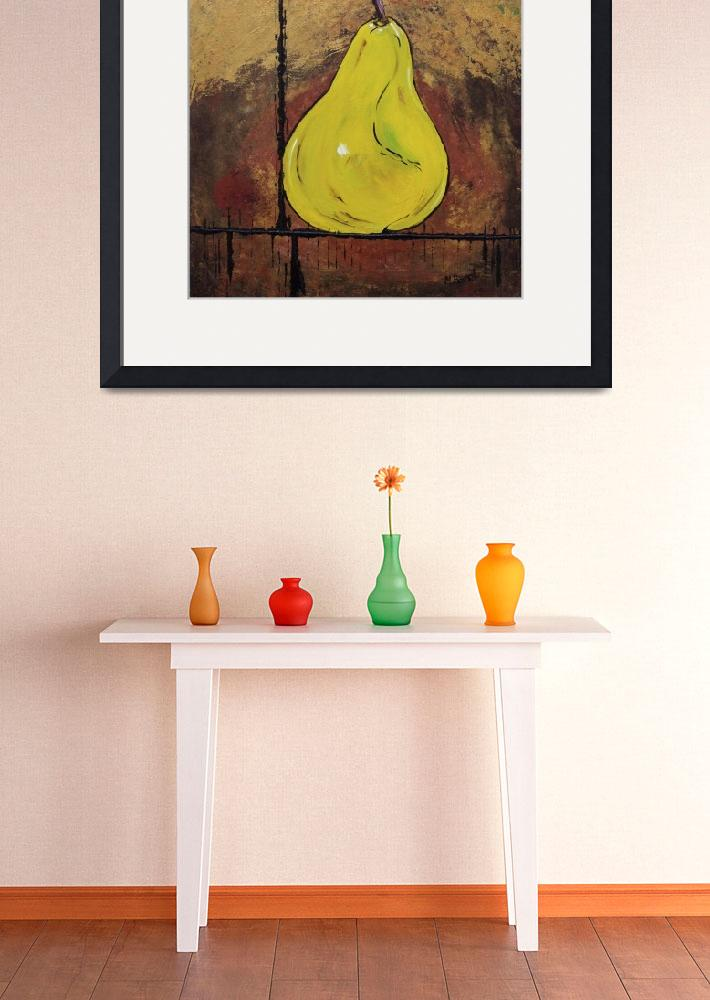 """""""A Pear Above&quot  (2010) by MaggieBernet"""
