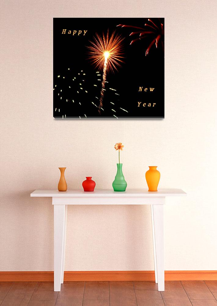 """""""Fireworks New Years Card&quot  (2008) by rayjacque"""