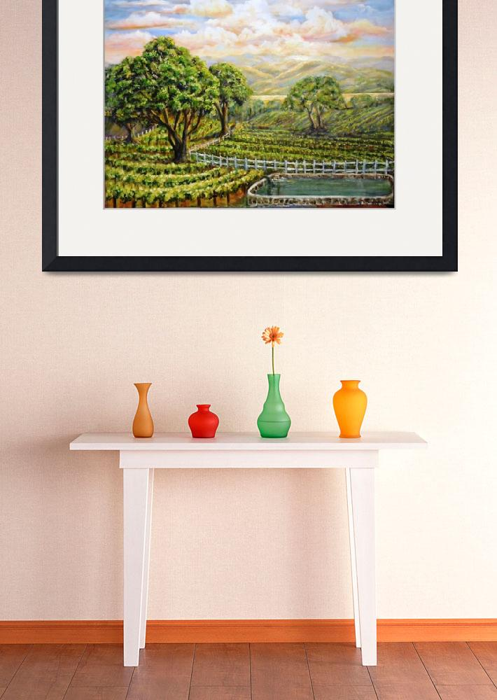 """Santa Ynez Valley Vineyard&quot  by StoneMeadowGallery"