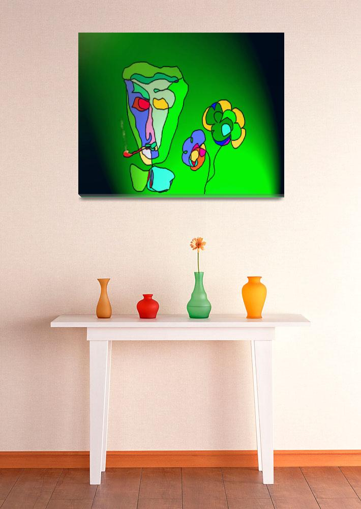 """""""A pipe and two flowers&quot  (2006) by Almajam"""