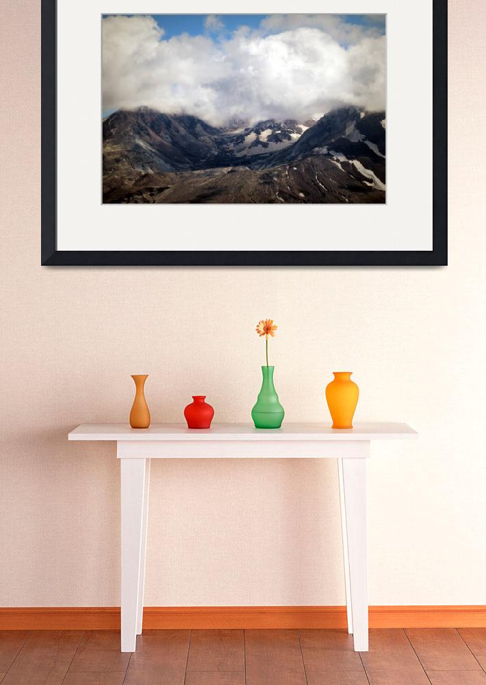 """""""Mount St Helens lava dome&quot  (2011) by dlmtleArt"""