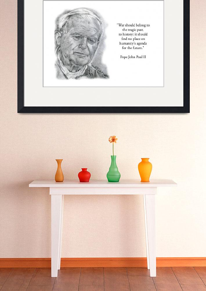 """""""Inspirational Portrait of Pope John Paul II&quot  by CreativeArtisticNuance"""