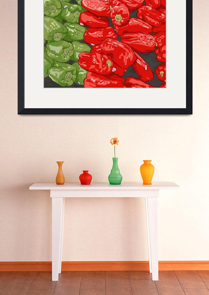 """""""Produce Peppers&quot  (2016) by stevedayton"""