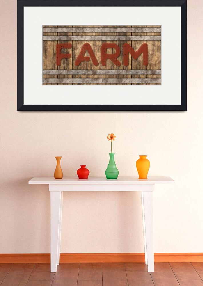 """FARM SIGN&quot  (2019) by Studio8974"
