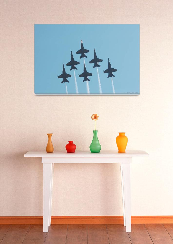 """""""Blue Angels Perfect Formation&quot  (2008) by kwalenga"""