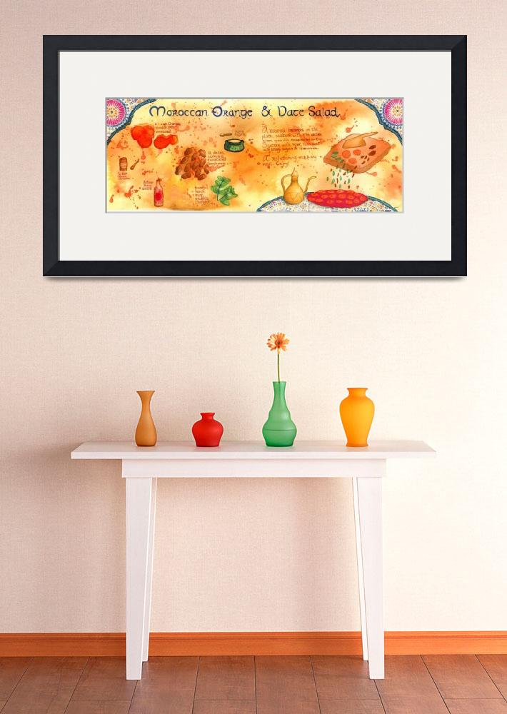 """""""Moroccan Orange and Date Salad by Kim Fleming&quot  by TheyDrawandCook"""