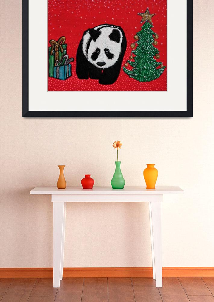 """""""A Panda For Christmas&quot  (2013) by ArtPrints"""