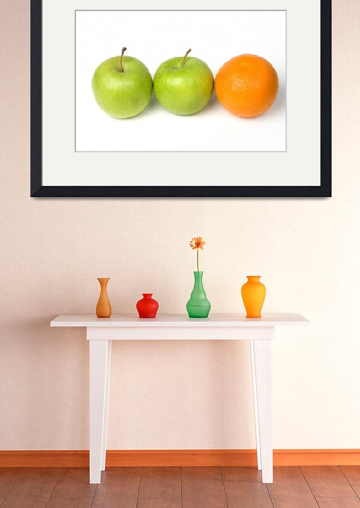 """Two apples and one orange in the row&quot  (2010) by Tom_K"