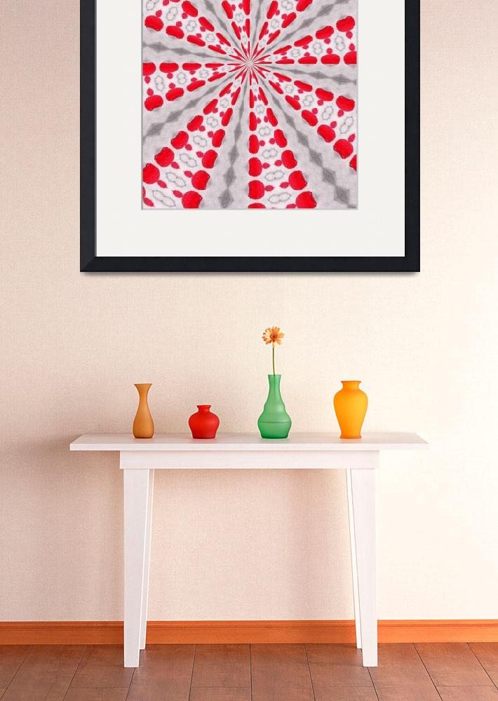 """""""abstract pattern red&quot  by wizardess"""