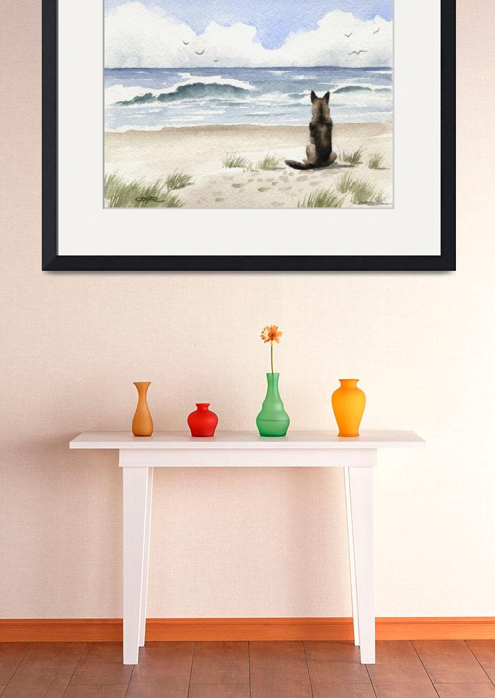"""German Shepherd at the Beach&quot  (2015) by k9artgallery"