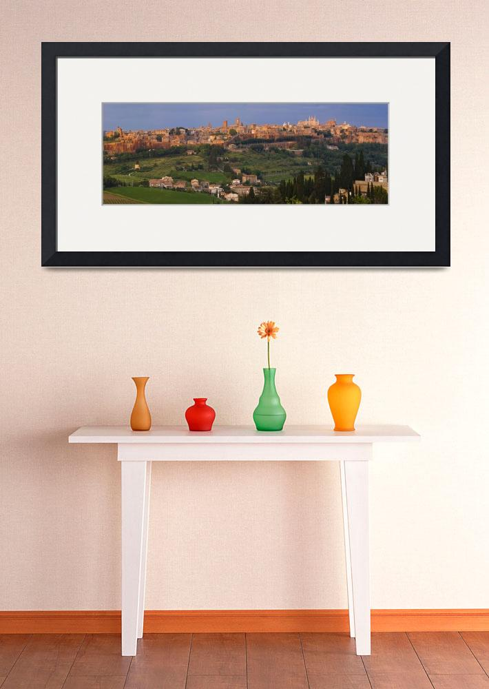 """""""High angle view of a cityscape Orvieto Umbria Ita&quot  by Panoramic_Images"""