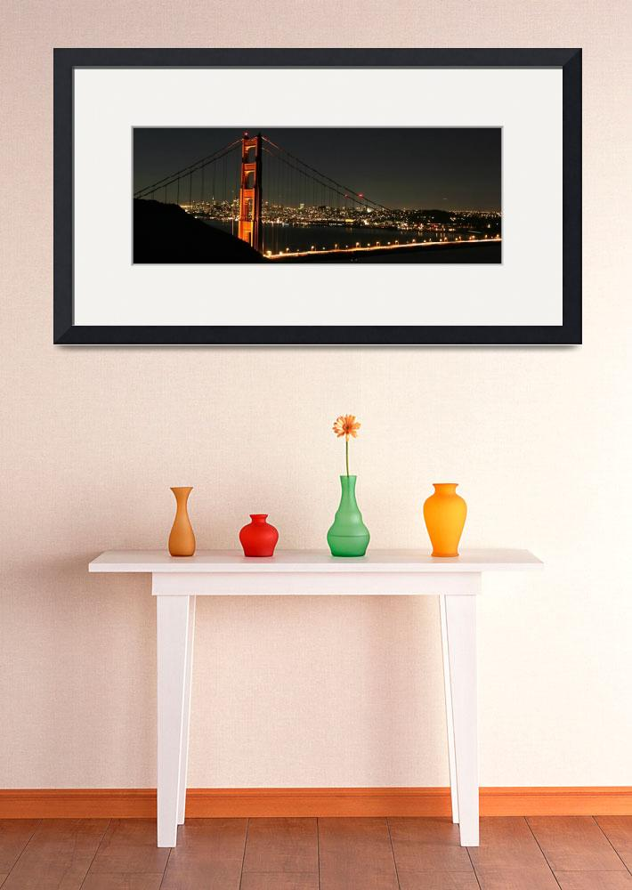 """Clear October Night Golden Gate Bridge&quot  (2008) by sfbayimages"
