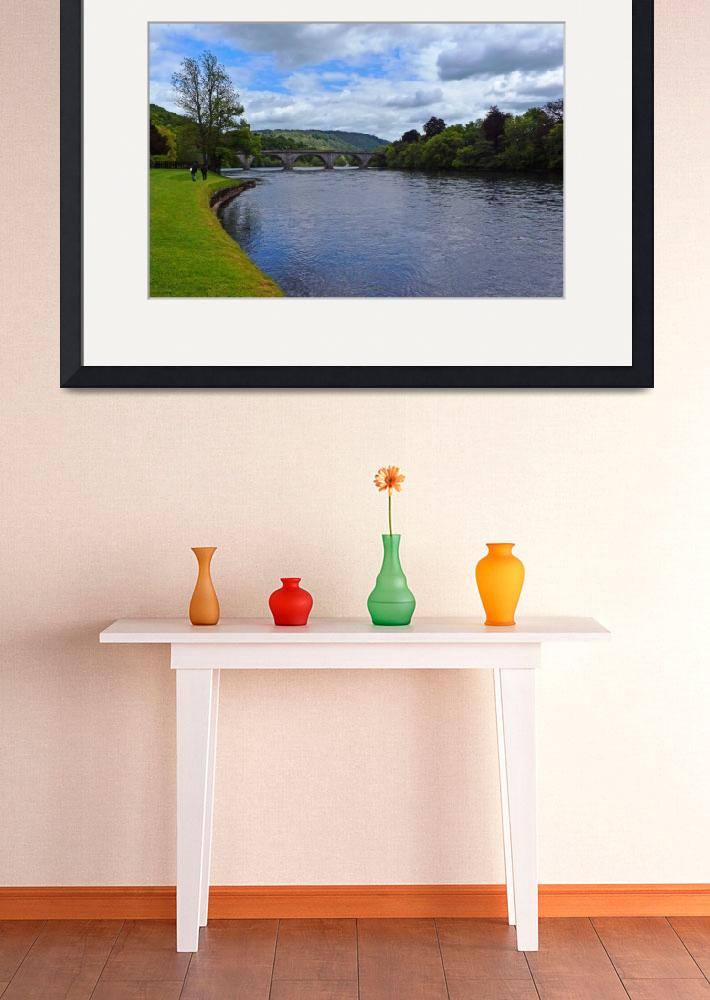 """""""Bridge over the River Tay&quot  (2012) by pravine"""