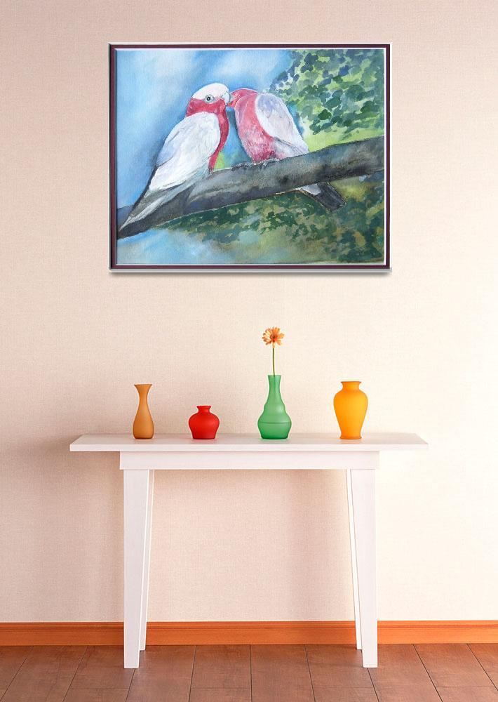 """""""Galahs Kissing""""  (2010) by artypam"""