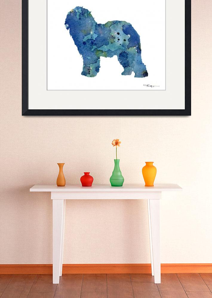 """""""Old English Sheepdog&quot  (2015) by k9artgallery"""