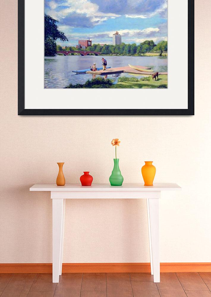 """Boating on the Charles&quot  (2008) by AngeloJAversa"