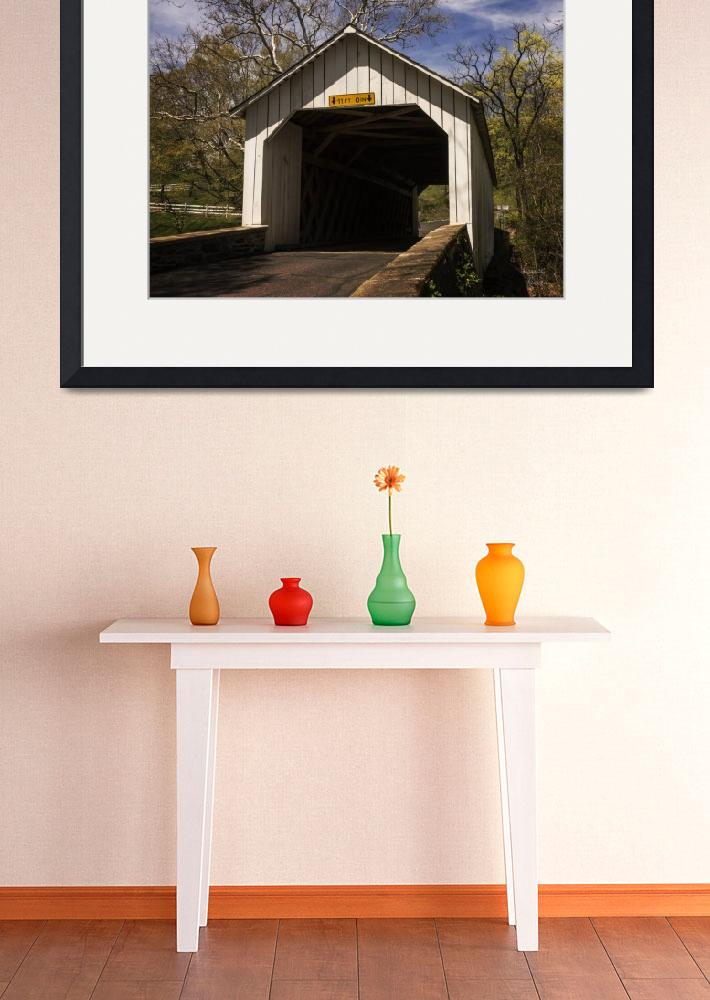 """""""Loux Covered Bridge 2""""  (2017) by LouiseReeves"""
