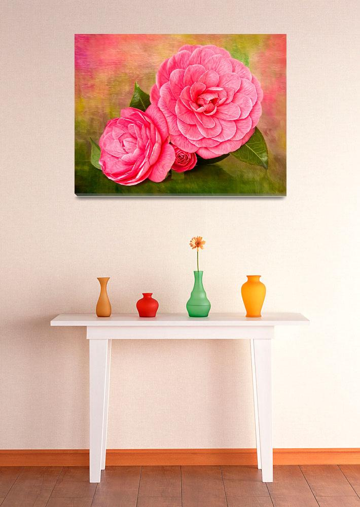 """Painterly Camellias""  (2011) by LeslieNicole"