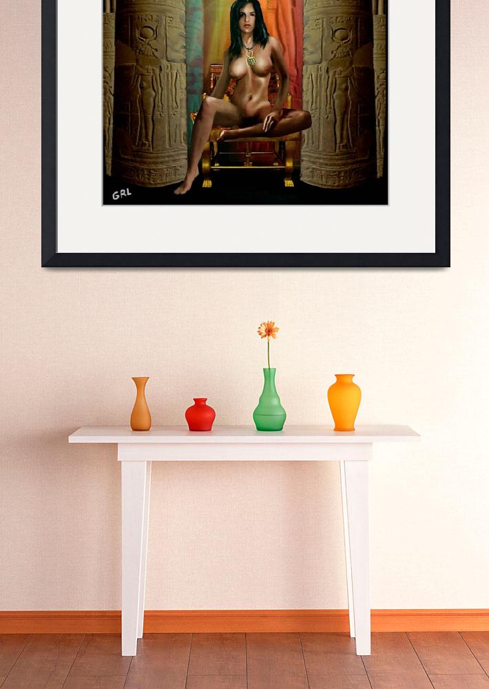 """Traditional Modern Female Nude Goddess Isis Of Mag&quot  by grl"
