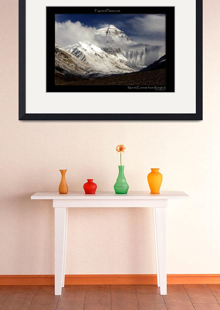 """""""Everest from Rongbuk, Tibet, after fresh snow&quot  (2006) by ExposedPlanet"""