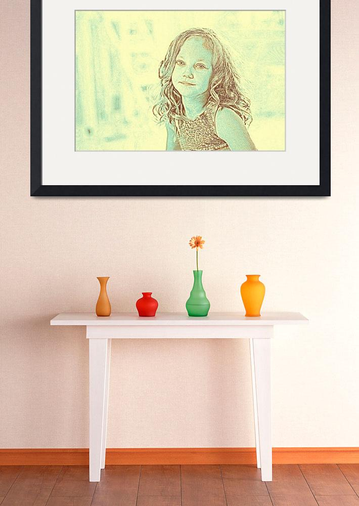 """""""Girl Portrait Young Room&quot  by motionage"""