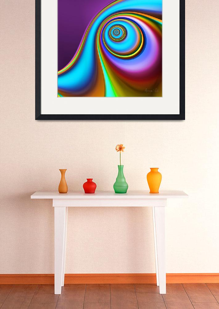 """""""Colorful Fractal 5&quot  (2007) by AnneVis"""