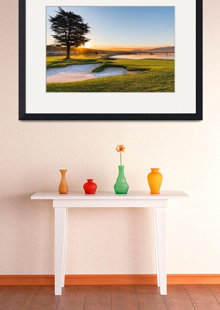 """18th at Pebble Beach Golf Course&quot  (2016) by centioliphotography"