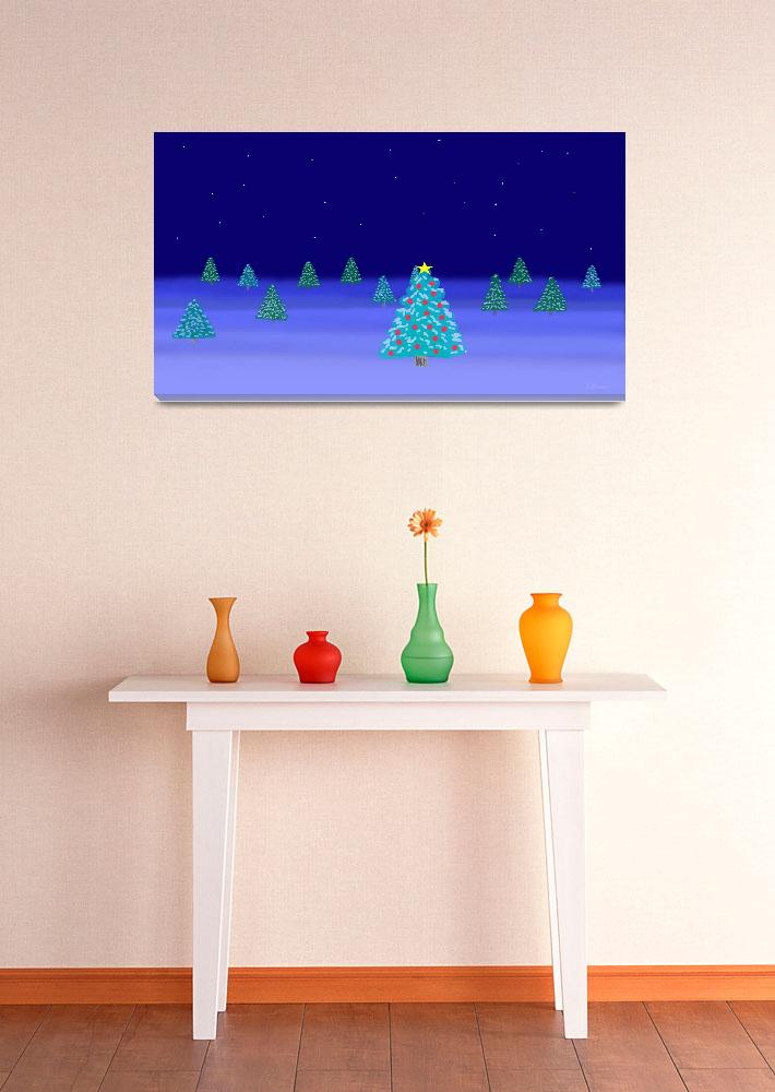 """""""Evening Christmas Trees""""  (2012) by TheNorthernTerritory"""