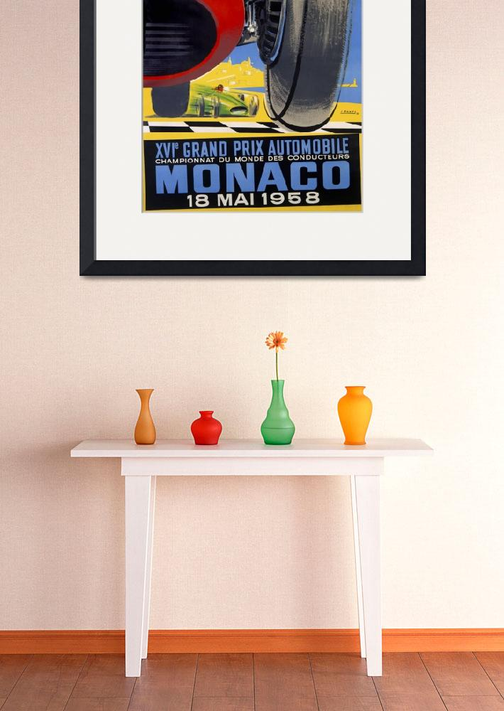"""Monaco Vintage Racing Poster""  by FineArtClassics"